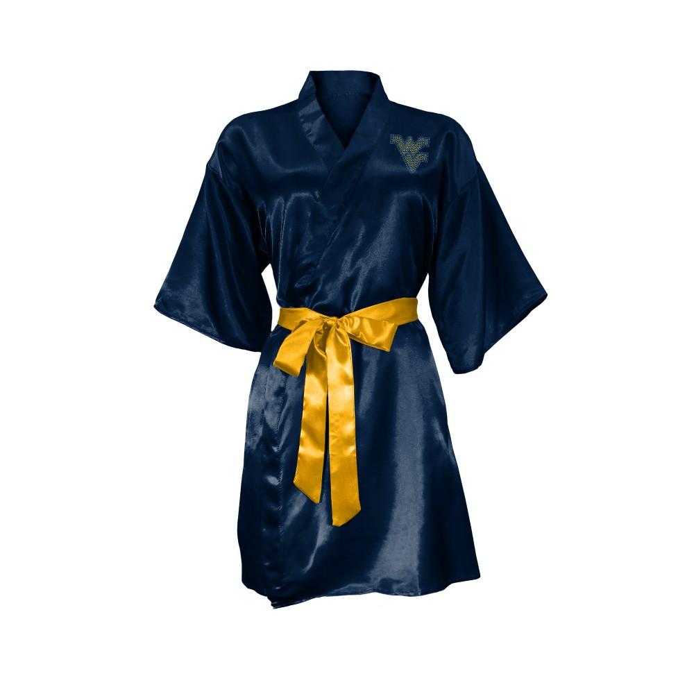 NCAA West Virginia Mountaineers Little Earth Satin Kimono - S/M