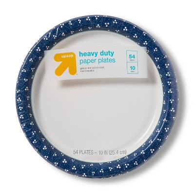 "Textured Dot Paper Plate 10"" - 54ct - up & up™"