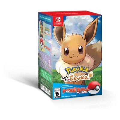 Pokemon: Let's Go Eevee! Poke Ball Plus Bundle - Nintendo Switch