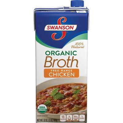 Swanson 100% Natural Organic Free-Range Chicken Broth 32oz