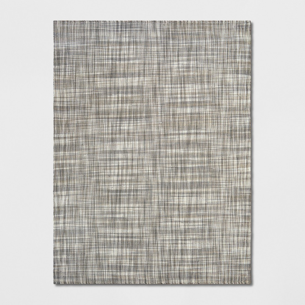 9'x12' Solid Woven Area Rug Gray - Project 62