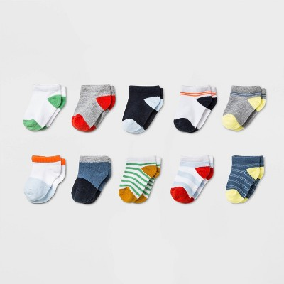 Baby Boys' 10pk Athletic Socks - Cat & Jack™ 6-12M