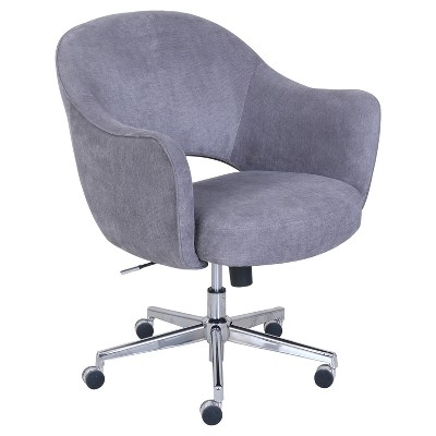 Valletta Home And Office Chair Gray   Serta