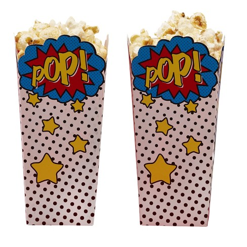 8ct Ginger Ray Popcorn Boxes Comic Superhero - image 1 of 2