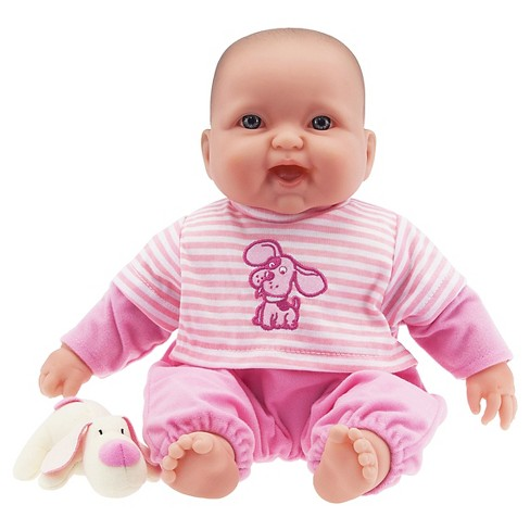 JC Toys Lots to Cuddle Babies Soft Body Baby Doll with Cute Dog Plush - image 1 of 2