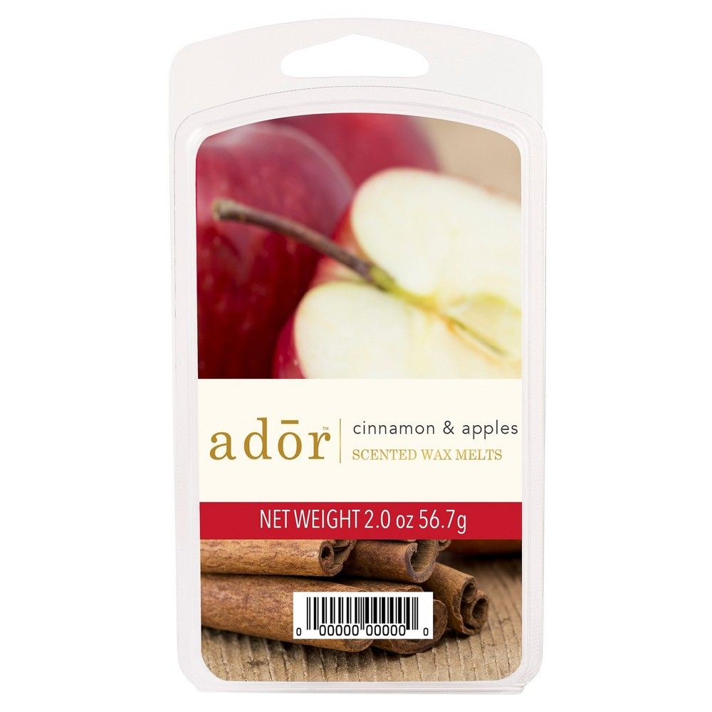 Image of 2oz Scented Wax Melts Cinnamon And Apples - Ador, Red