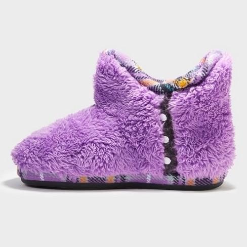 45cba3b0408 Girls' Dearfoams Bootie Slippers - Purple 7-8 : Target