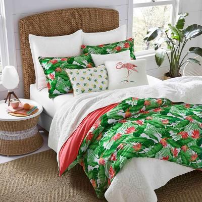 Green Del Carmen Comforter Set (Full/Queen)- Nine Palms