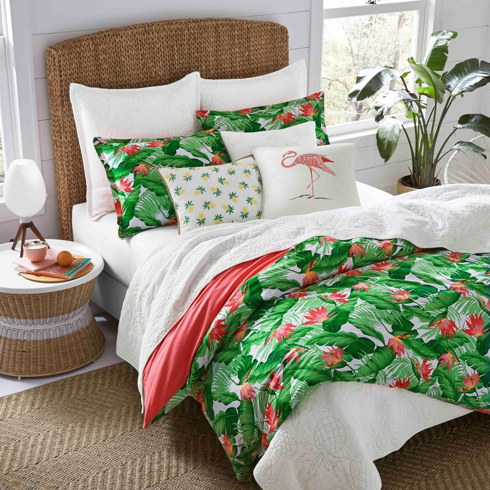 Image of Green Del Carmen Duvet Cover Set (Full/Queen) - Nine Palms