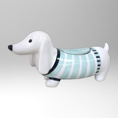 Stoneware Dog Cookie/Candy Jar 40oz White/Blue - Threshold™