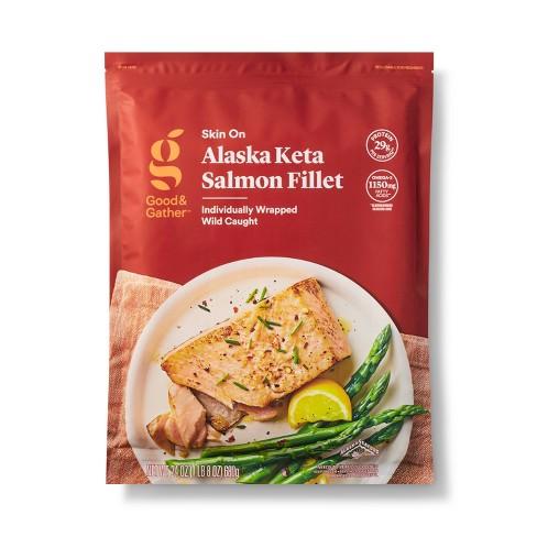 Alaska Keta Salmon Skin On Fillets - Frozen - 24oz - Good & Gather™ - image 1 of 3