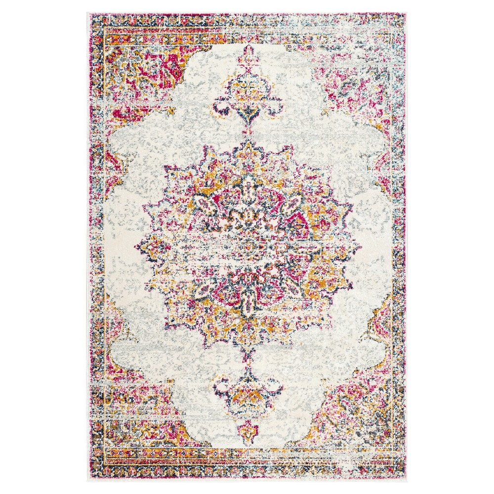 4 X6 Red Solid Loomed Area Rug Pink Nuloom