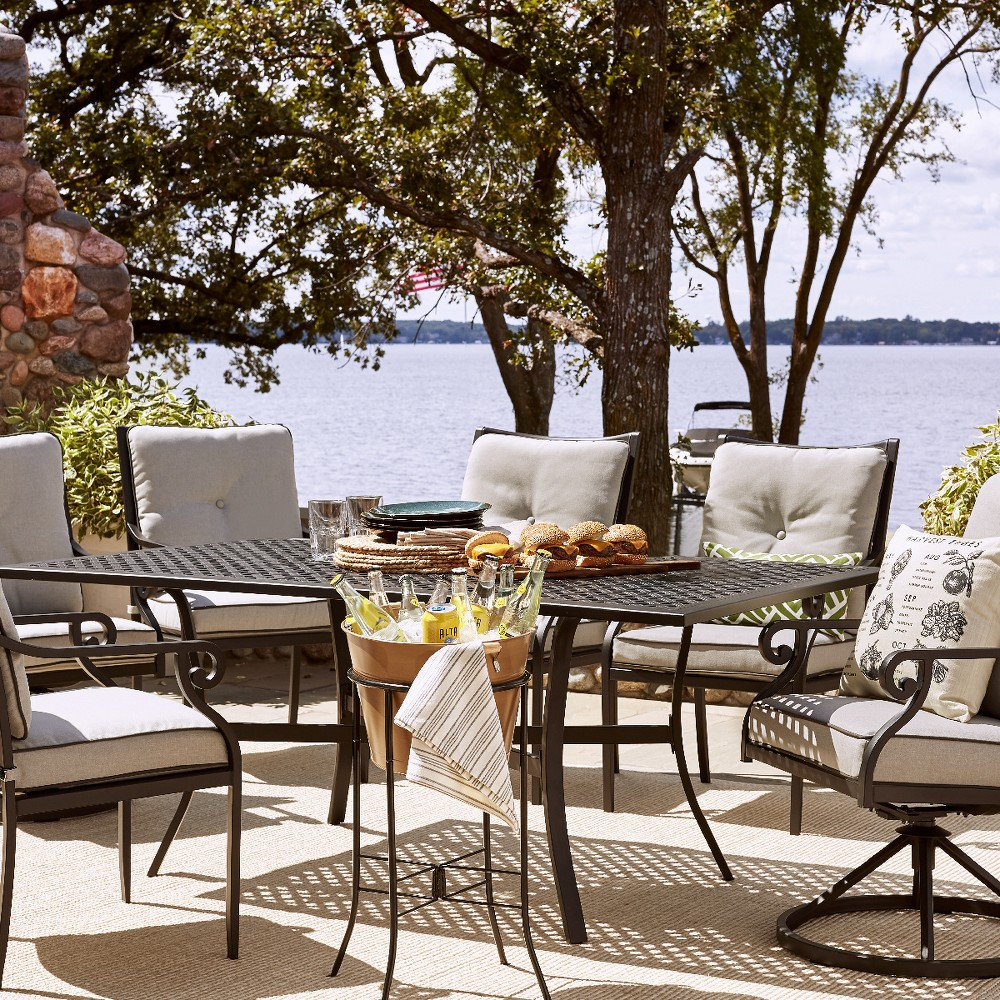 Chester 7pc Aluminum Patio Dining Set - Threshold