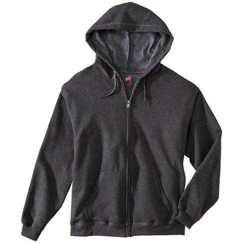 511c35ed75 Hanes® Premium Men s Fleece Zip-Up Hooded Sweatshirt - Dark Gray L ...