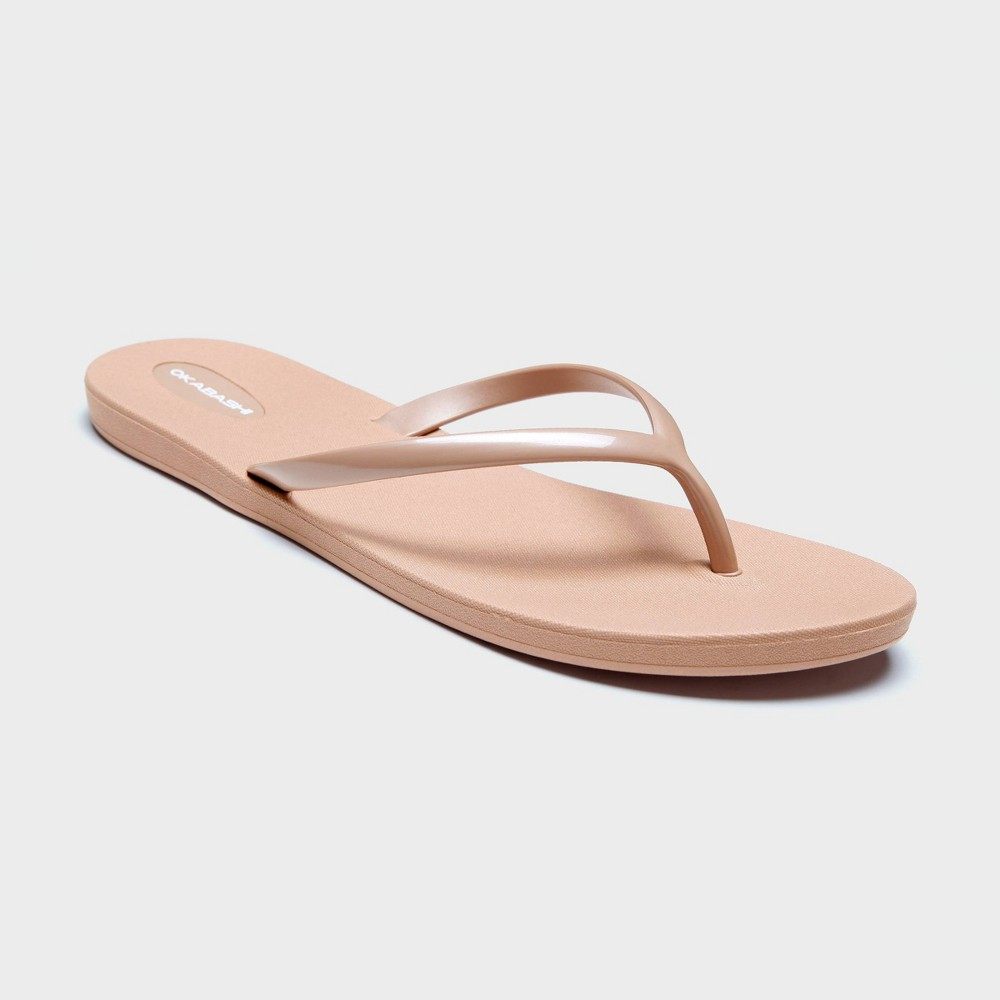 Women's Shoreline Flip Flop Sandals - Okabashi Pearl Blush 11