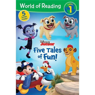World of Reading Disney Junior Five Tales of Fun! -  (Paperback)