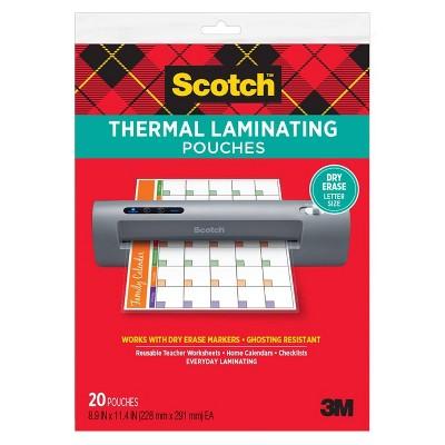 Scotch 20ct Dry Erase Thermal Laminating Sheets