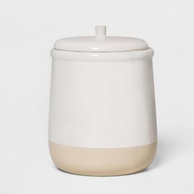 6.2  x 5  Stoneware Lidded Jar Cream - Threshold™