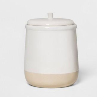 "6.2"" x 5"" Stoneware Lidded Jar Cream - Threshold™"