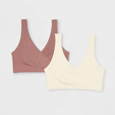 Women's Nursing 2pk Pull Over Seamless Sleep Bra - Auden™