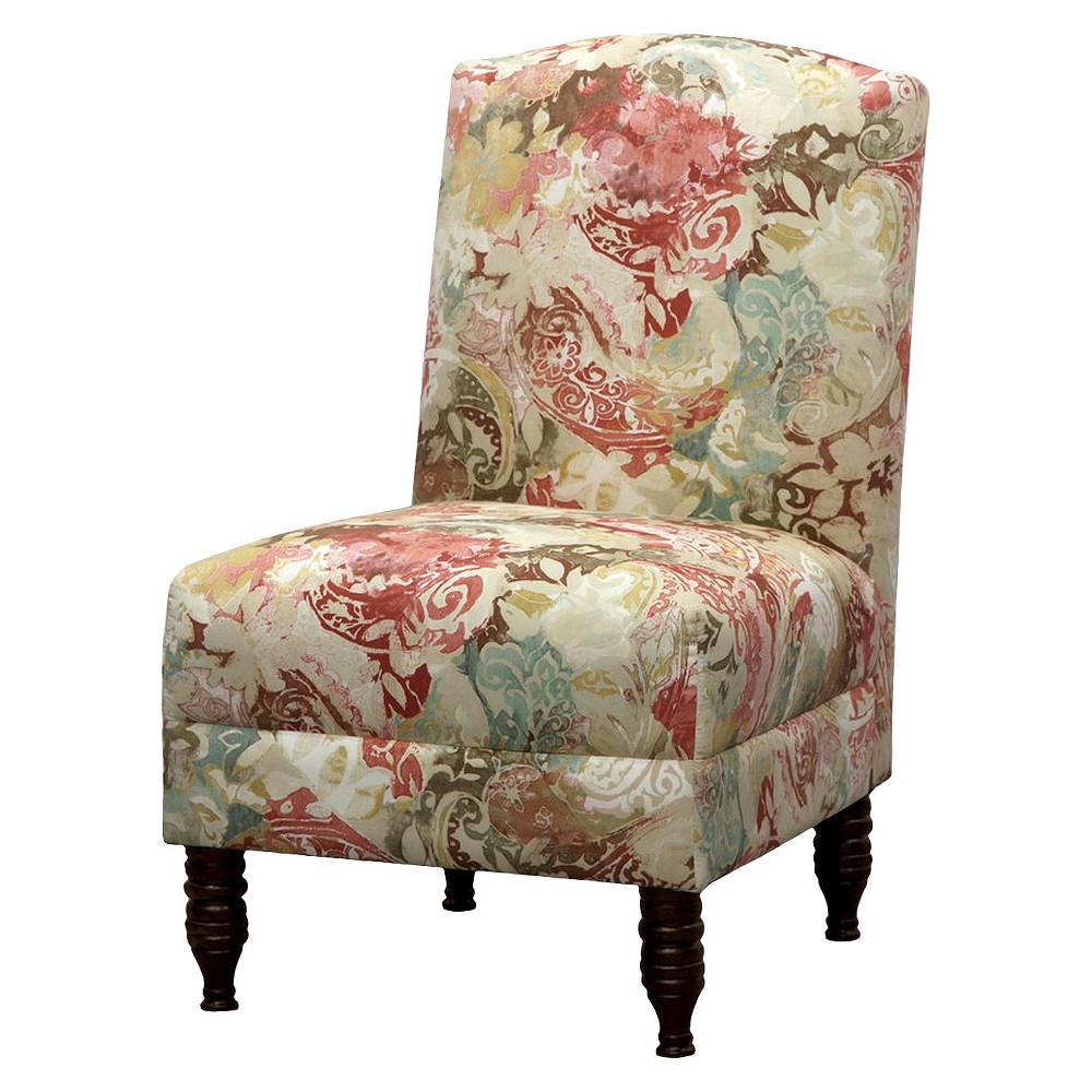 Skyline Mallory Upholstered Chair - Prints - Skyline Furniture, Red