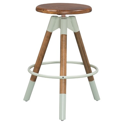 Adjustable Wood Stool - Dipped Legs (Set of 2) - Sage & Pine - Reservation Seating - image 1 of 2