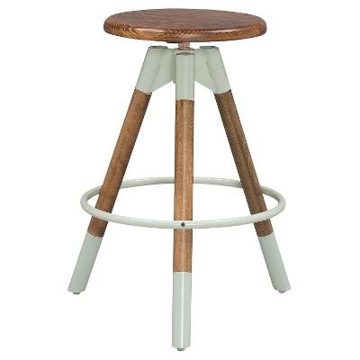 Adjustable Wood Stool   Dipped Legs (Set Of 2)   Sage U0026 Pine   Reservation  Seating
