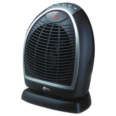 "Alera Digital Fan-Forced Oscillating Heater 1500W 9 1/4"" x 7"" x 11 3/4"" Black HEFF12B"