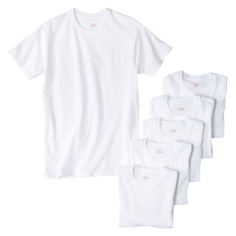 Hanes® Men's 6Pk Crew Neck T-Shirts With Fresh IQ - White - image 1 of 4