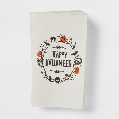 16ct Paper Happy Halloween Disposable Disposable Guest Towels  - Threshold™