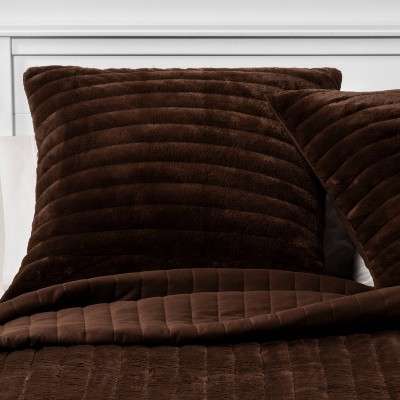 Threshold™ Reversible Faux Fur And Flannel Sham : Target