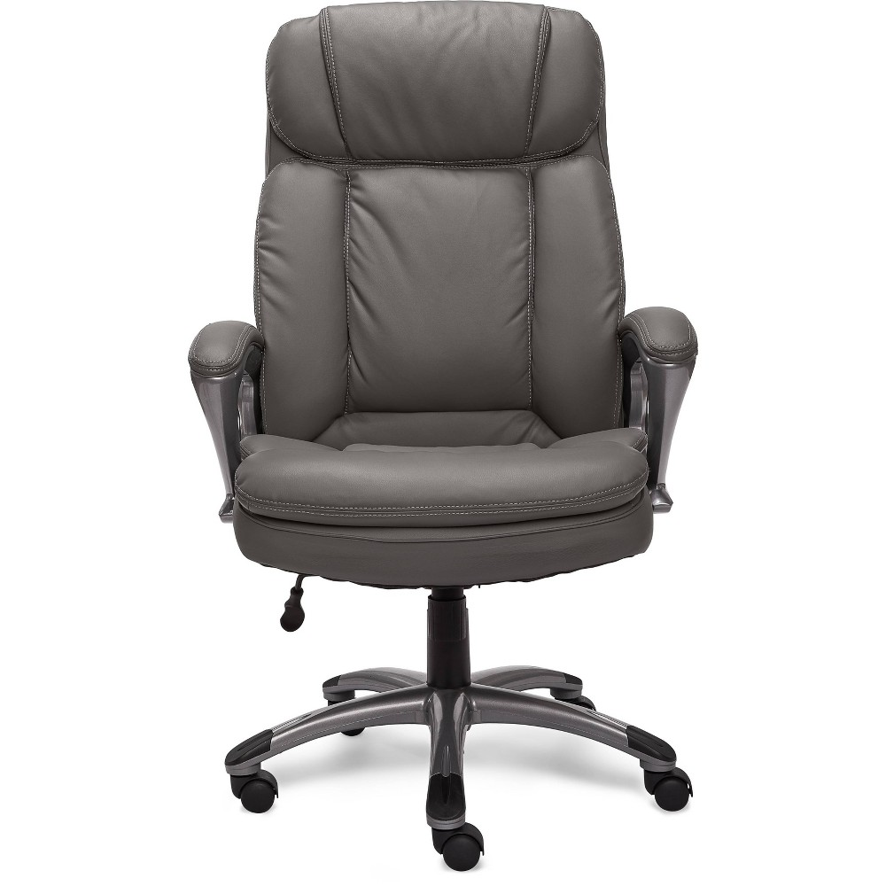 Image of Big and Tall Executive Office Chair Opportunity Gray - Serta