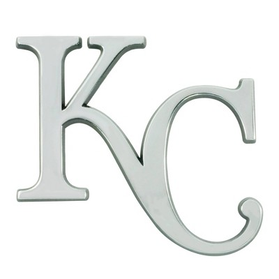 MLB Kansas City Royals 3D Chrome Metal Emblem