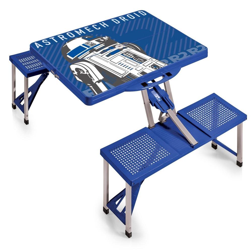 Picnic Time Star Wars R2 D2 Folding Picnic Table Royal Blue