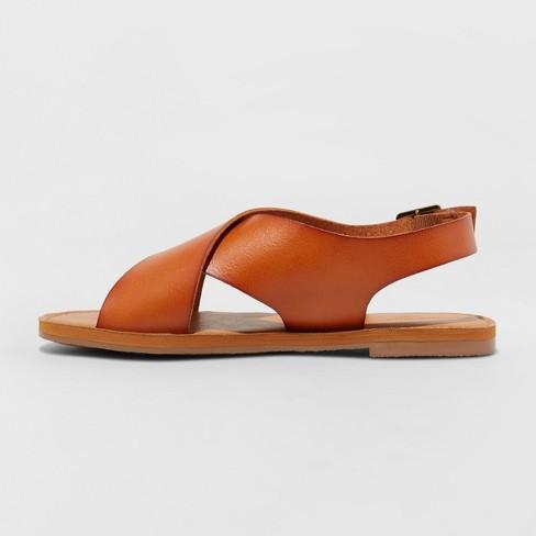 4100eaf41c2 Women s Sarina Crossband Slide Sandals - Universal Thread™ Cognac 5   Target