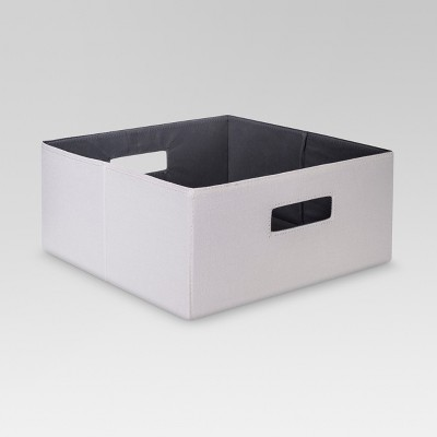 Half-Size Fabric Cube Storage Bin 13  - Sand - Threshold™