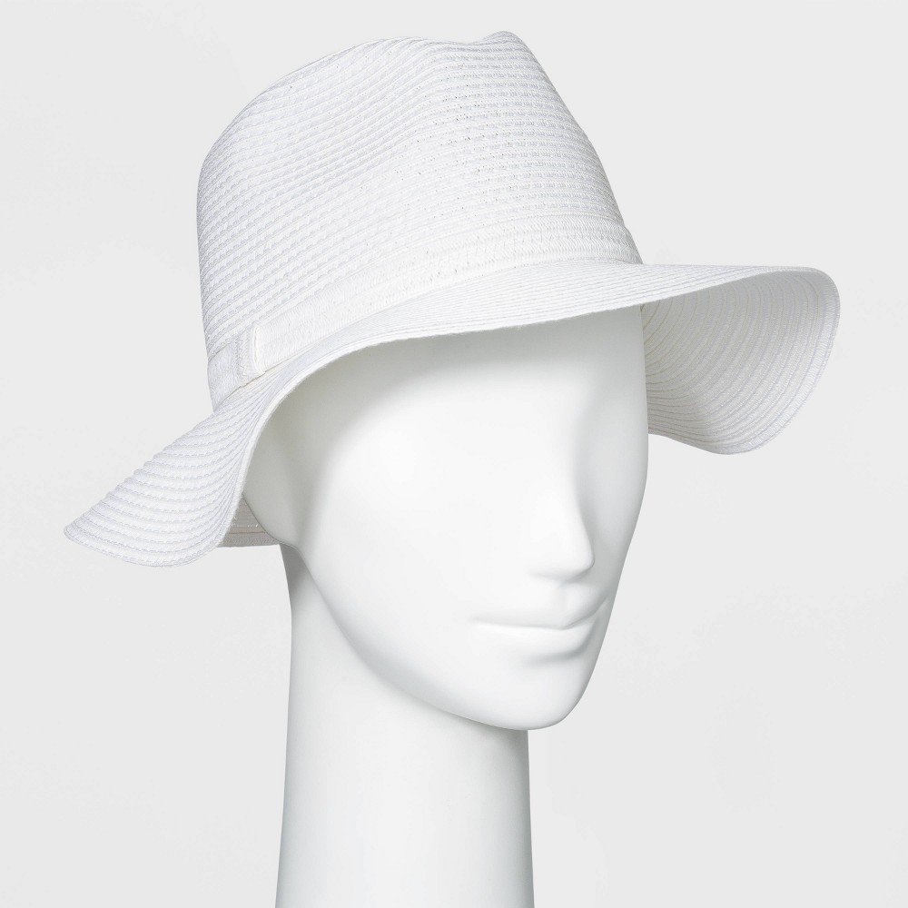 Top Women' Packable Eential traw Panama Hat - A New Day™ White