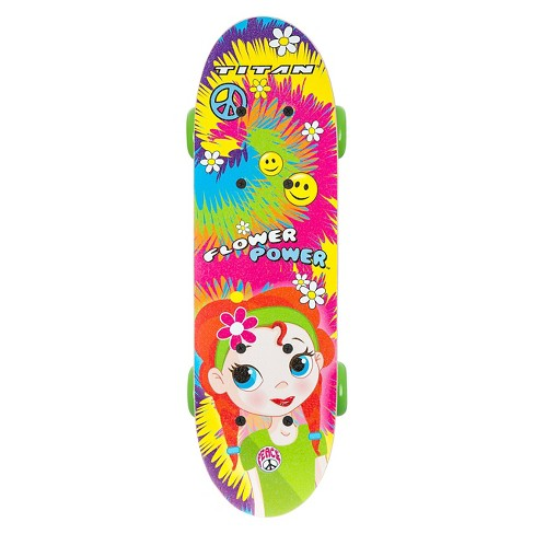 "TITAN 9263 Flower Power Princess Complete 17"" Girls' Skateboard - image 1 of 8"