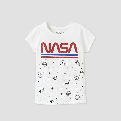 Girls' NASA Short Sleeve Graphic T-Shirt - White