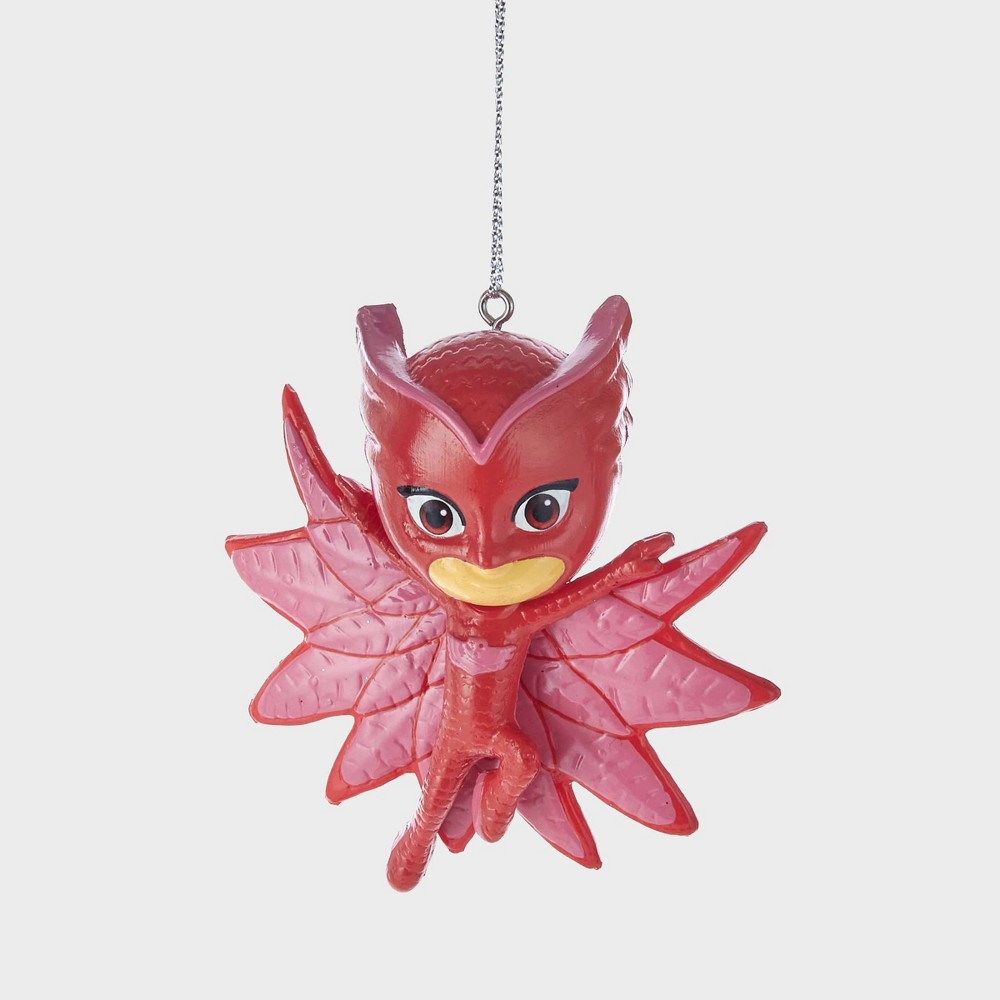 "Image of ""3"""" PJ Masks Owlette Resin Christmas Ornament, Red"""