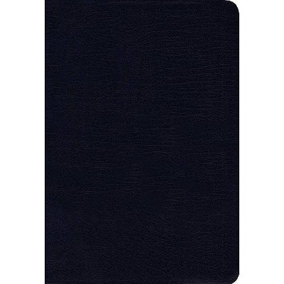 NIV, Thinline Bible, Bonded Leather, Navy, Red Letter Edition - by  Zondervan (Leather Bound)