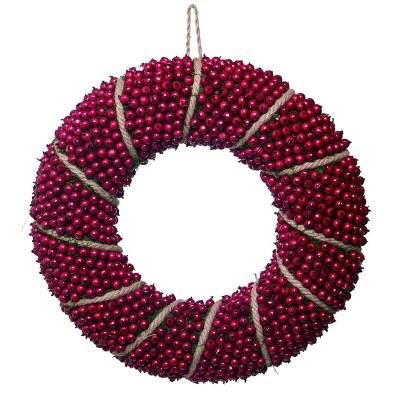 Transpac Foam 20 in. Red Christmas Berry Wreath