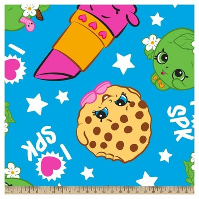 Shopkins Buddies Fleece Fabric by the Yard