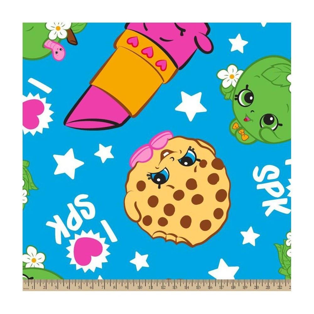 Image of Shopkins Buddies Fleece Fabric by the Yard