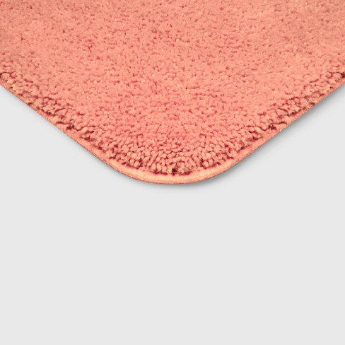 Perfectly Soft Nylon Solid Bath Rug Georgia Peach Opalhouse Target