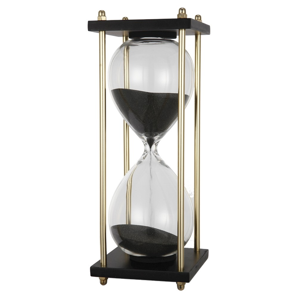Image of A&b Home Hour Glass In Stand (4X4X9), Black