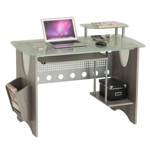 Computer Desk Techni Mobili Gray - image 1 of 4