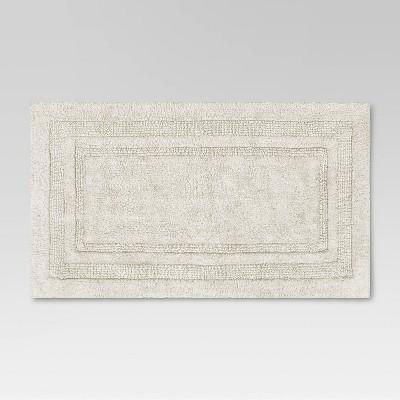 "20""x34"" Performance Cotton Bath Rug Cream - Threshold™"