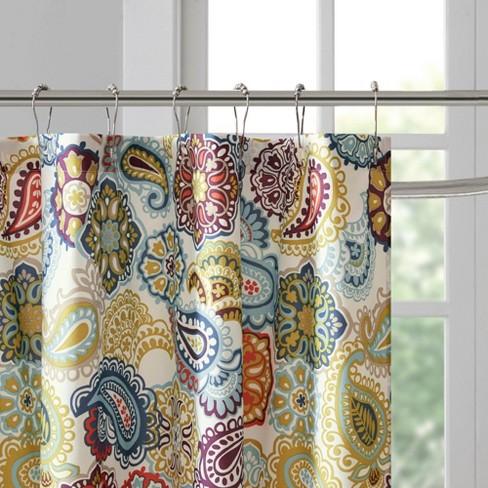 Tula Paisley Print Microfiber Shower Curtain