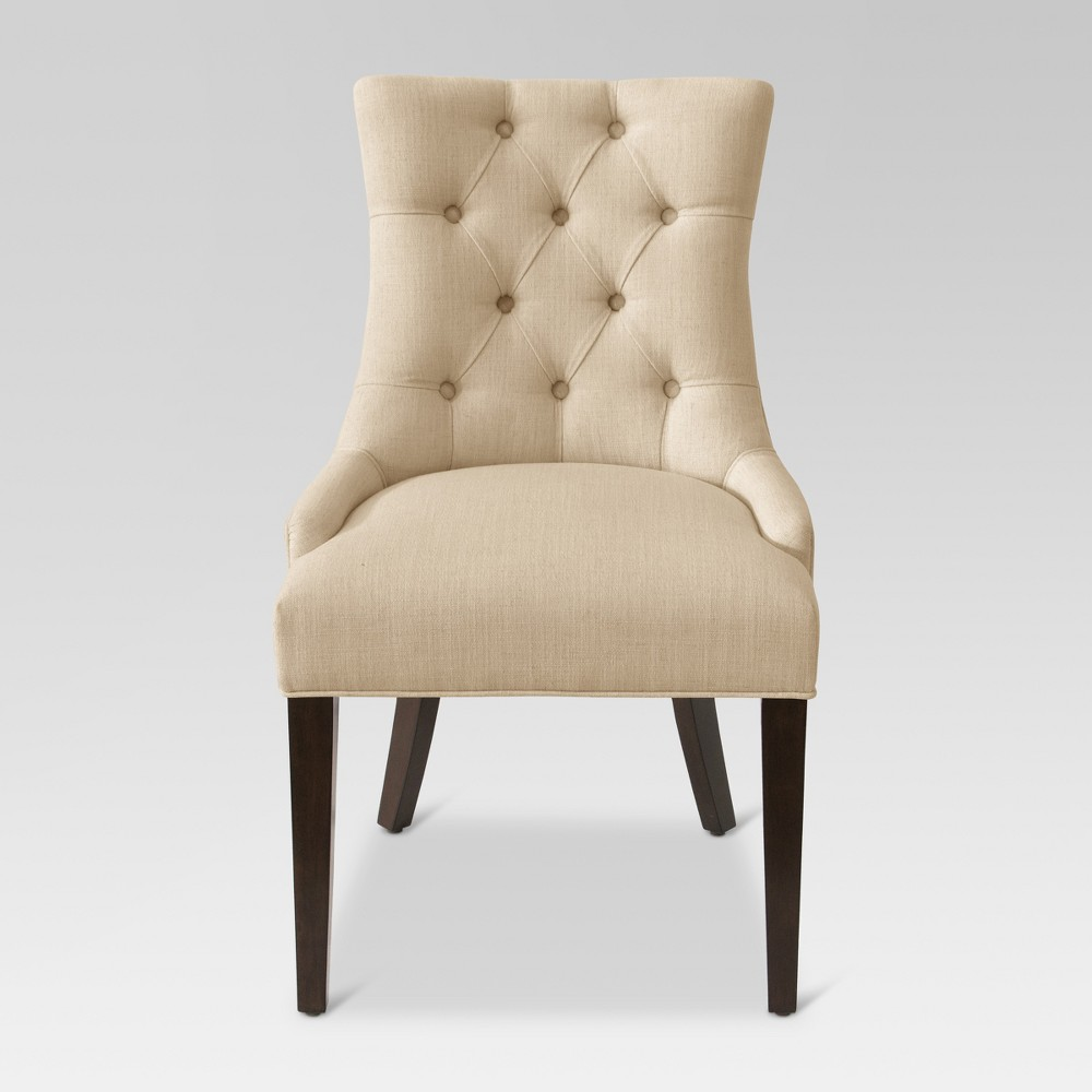 English Arm Dining Chair Cream Linen - Threshold